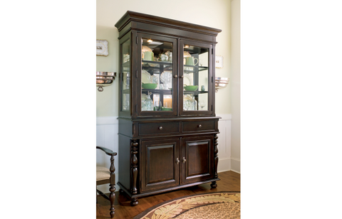 Paula Deen Buffet & Hutch - Tobacco Finish