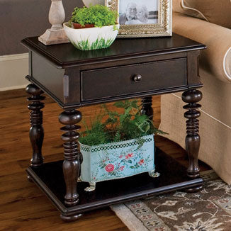 Paula Deen Rectangular End Table - Tobacco Finish