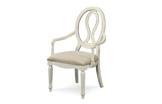 Summer Hill Pierced Back Arm Chair (Set of 2) / Cotton Finish