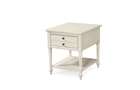 Summer Hill End table / Cotton Finish