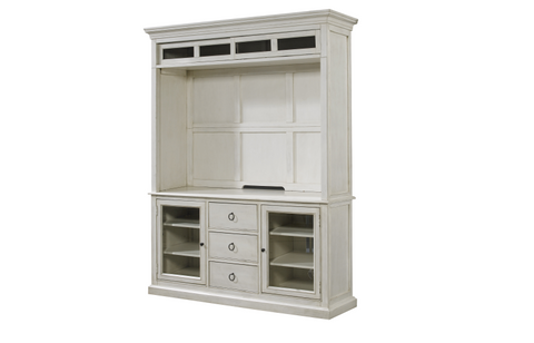 Summer Hill Entertainment Console w/ Hutch / Cotton Finish