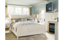 Summer Hill King Size Panel Bed / Cotton Finish