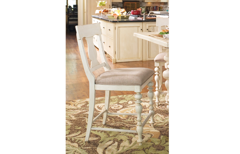 Paula Deen Counter Height Chair (Set of 2) - Linen Finish