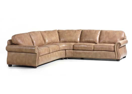 Barrington Leather Sectional by Randall Allan