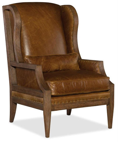Hooker Laurel Exposed Wood Club Chair