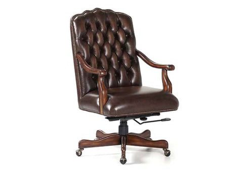Johnson Swivel Tilt Leather Chair by Randall Allan