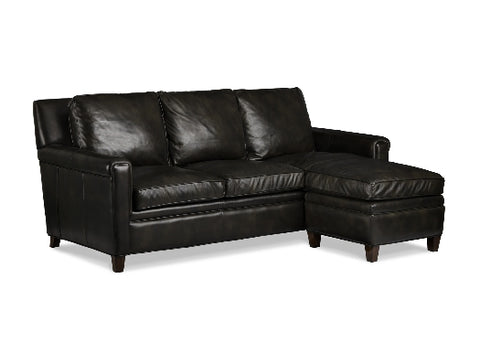 Milstead Leather Sofa & Ottoman by Randall Allan