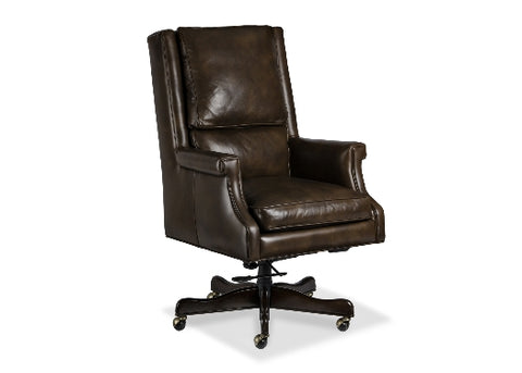 Murphy Leather Swivel Tilt Chair by Randall Allan