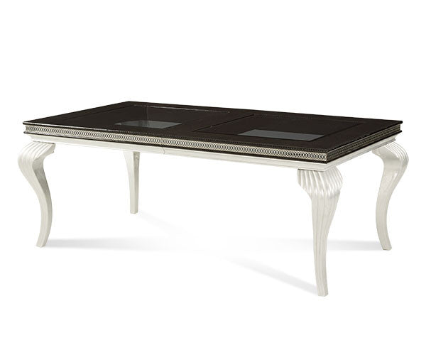 Hollywood Swank Leg Dining Table - Black Iguana by Aico