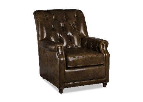 Parson Leather Chair by Randall Allan