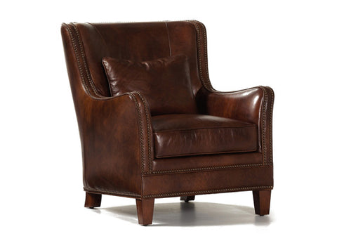 Vermont Leather Chair by Randall Allan