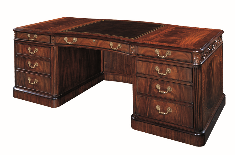 Henkel Harris Executive Desk w/ Leather Top