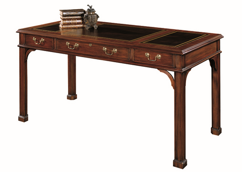 Henkel Harris Table Desk w/ Leather Top