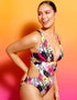 Curvy Kate Sea Leopard Non Wired Plunge Swimsuit Print Mix