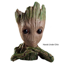 Load image into Gallery viewer, Groot Flower Pot - Hands Under Chin