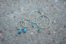 Load image into Gallery viewer, Sonoran Mountain Turquoise Hoop Earrings - No. 8