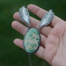 Load image into Gallery viewer, Fern + Utah Variscite Statement Necklace