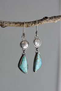 Carico Lake Turquoise + Sand Dollar Earrings