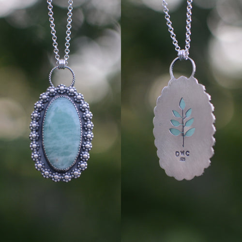Amazonite Fern Cutout Necklace