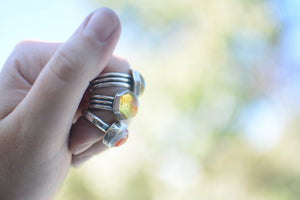 Amber Hexagon Ring - Size 6.75