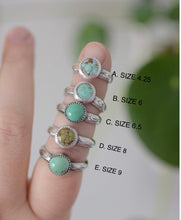 Load image into Gallery viewer, Turquoise Stamped Stacking Ring