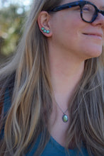 Load image into Gallery viewer, Sonoran Gold Turquoise Ear Climbers - No. 10