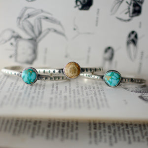 Sonoran Rose Turquoise Stacking Cuff Bracelet #2