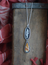 Load image into Gallery viewer, Cactus + Banded Jasper Necklace