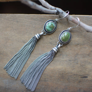 Royston Turquoise + Fringe Earrings