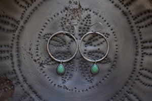 Campitos Turquoise Small Round Hoop Earrings