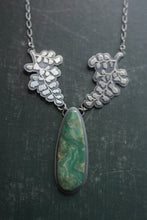 Load image into Gallery viewer, Maidenhair Fern + Pixie Turquoise Statement Necklace