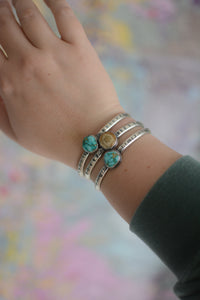 Sonoran Rose Turquoise Stacking Cuff Bracelet #1