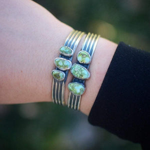 Sonoran Gold Turquoise Triple Stone Cuff