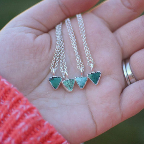 Small Triangle Hubei Turquoise Necklace