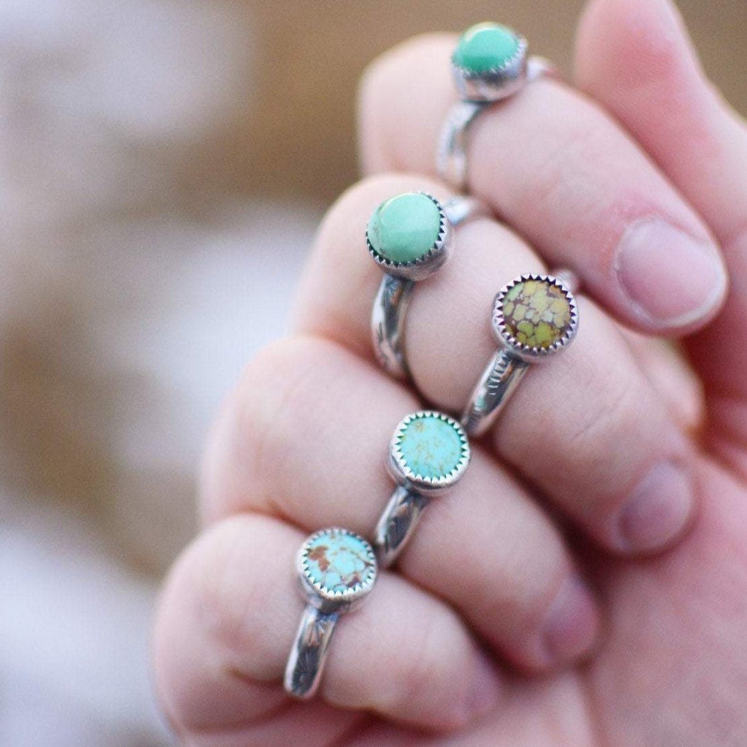 Turquoise Stamped Stacking Ring