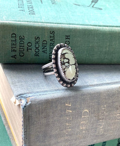 Butterfly Wing Variscite Ring - Size 6