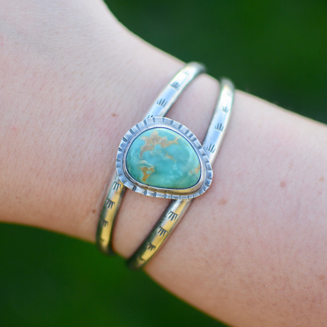 Turquoise Double Cuff Bracelet