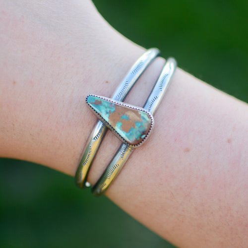 Royston Turquoise Double Cuff Bracelet