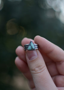 Triangle Desert Bloom Statement Ring - Size 6