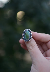 Turquoise Statement Ring - Size 7.5