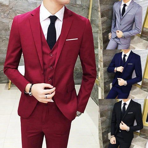 Three Piece Business Party Best Men Suits Peaked Lapel Two Button Custom Made Wedding Groom Tuxedos Jacket Pants Vest костюм