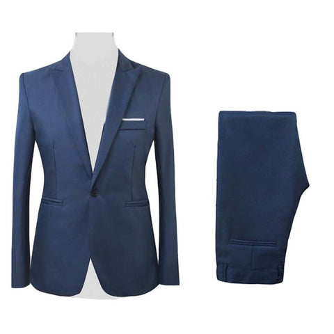 Formal Mens Suits with Pants Men's Blazer Slim Fit Wedding Male Groom Tuxedos suit Prom (Jacket+Pants) costume homme костюм