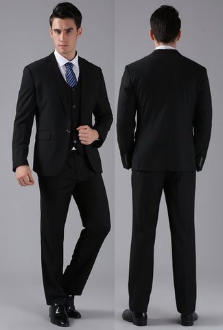 (Jacket+Vest+Pants+Tie) 2015 New Men Wedding Suits Slim Tuxedo Brand Fashion Formal Costumes Business Dress Suits Blazer H0285
