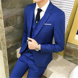 2018 Men Black Wedding Prom Suits S-3XL Fashion Shawl Collar Men Tuxedo Suit Costume Homme Mariage Jacket+Vest+Pants