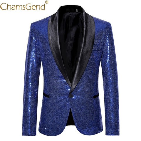 Men Party Blazers Stylish Bling Sequins Tuxedo Formal Suits Man Fashion Jacket Coat for Carnival Party Dance Show 90327