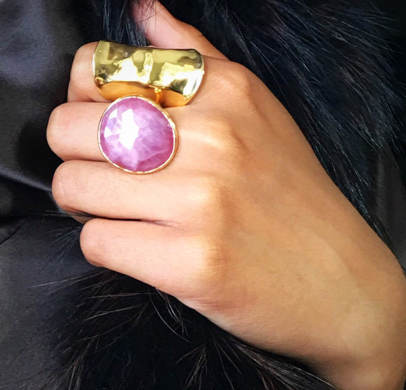 Pink Sapphire Ring 18k