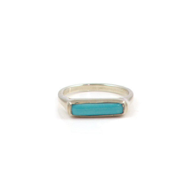 Silver Stacking Sea Horizon Rings