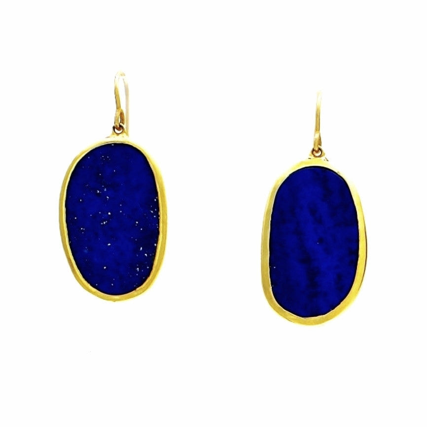 Lapis Lazuli Earrings 18 K Gold