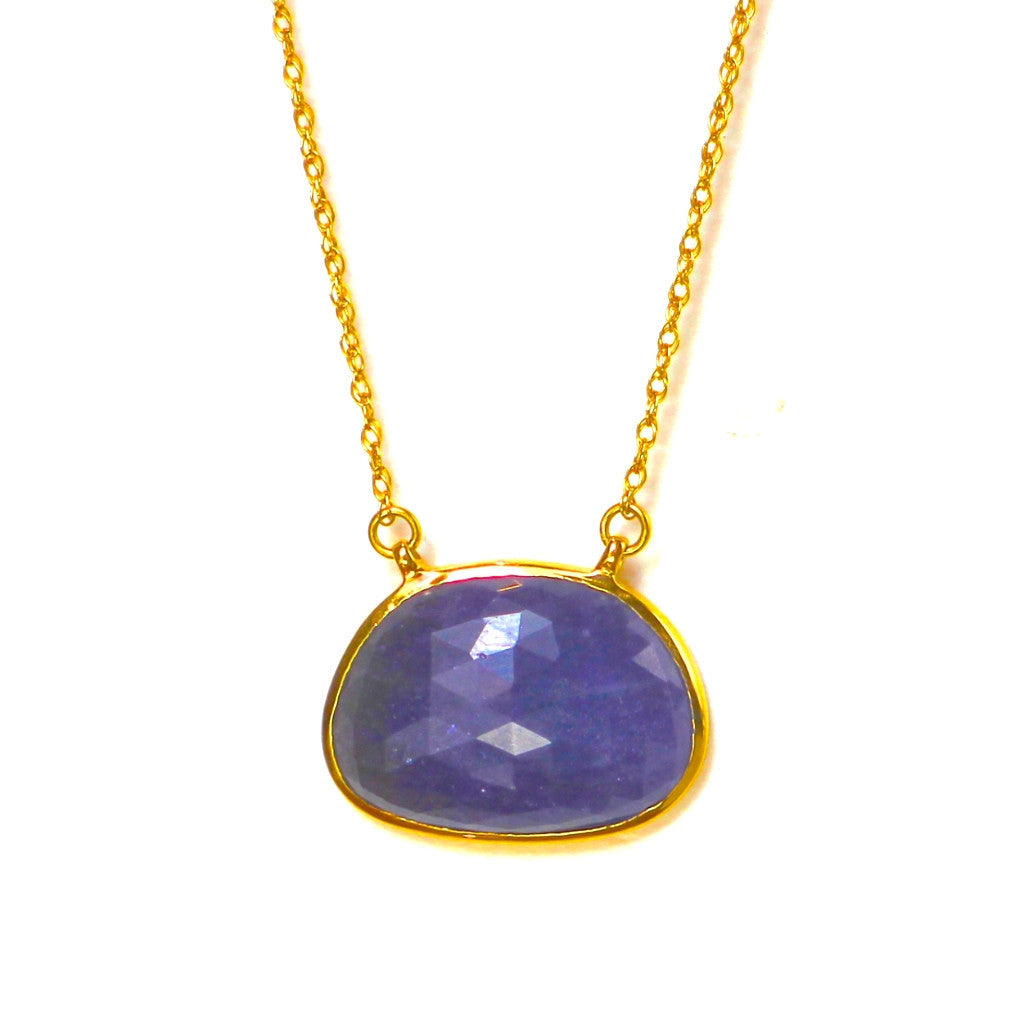 Tanzanite Necklace 18K Gold