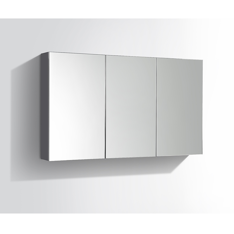 armoire de toilette bloc miroir siena largeur 120 cm gris. Black Bedroom Furniture Sets. Home Design Ideas